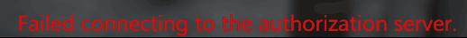 IMP登录时下方出现红色英文提示