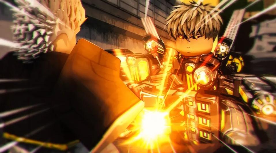 ROBLOS动漫英雄模拟器,一拳超人杰诺斯樊烧炮全力输出!